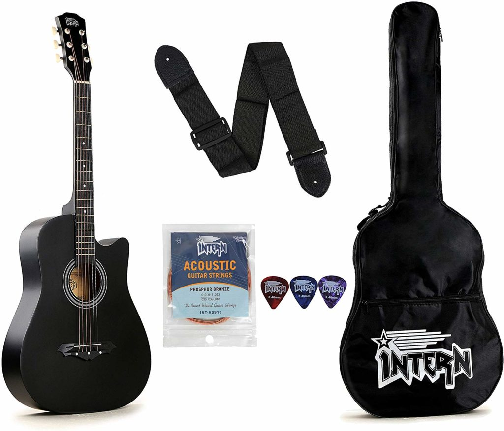 Intern INT-38C Acoustic Guitar- Best Guitars Under 5000 in India for 2019